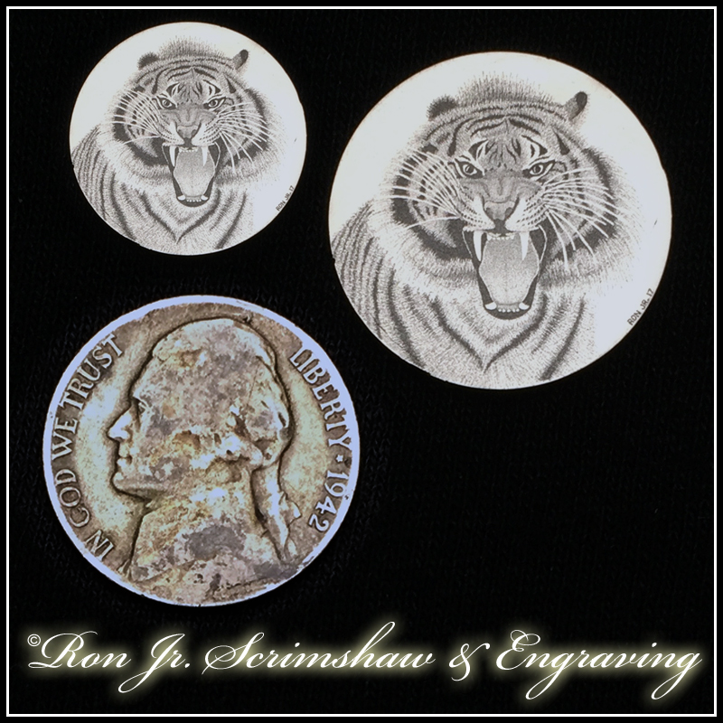 Ron Jr  Hand Engraved Coins